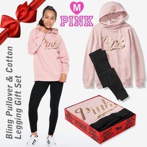 PINK Bling Pullover & Cotton Legging Gift Set M